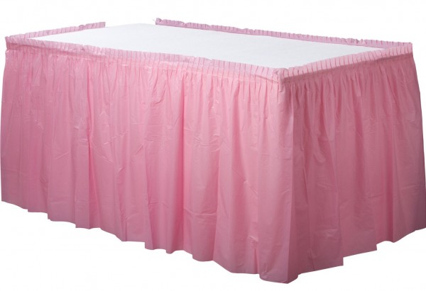 Borde de mesa Mila rosa claro 4,26mx 73cm