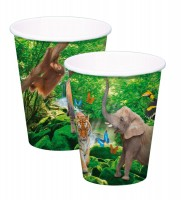 Safari & Dschungel Becher 8 Stk