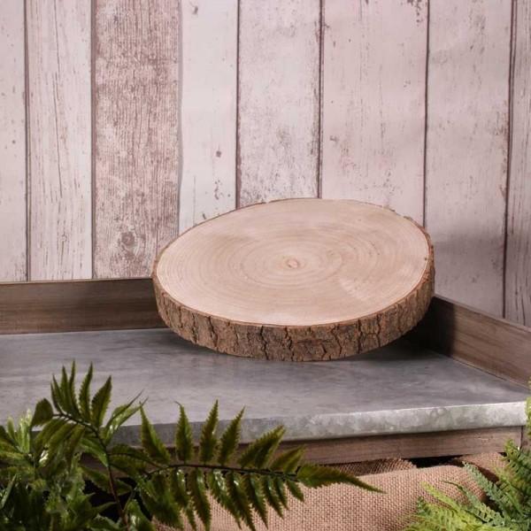 Decoratieve houten schijf Woody 26-30cm