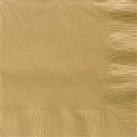 50 Goldene Papierservietten 2-lagig 50cm