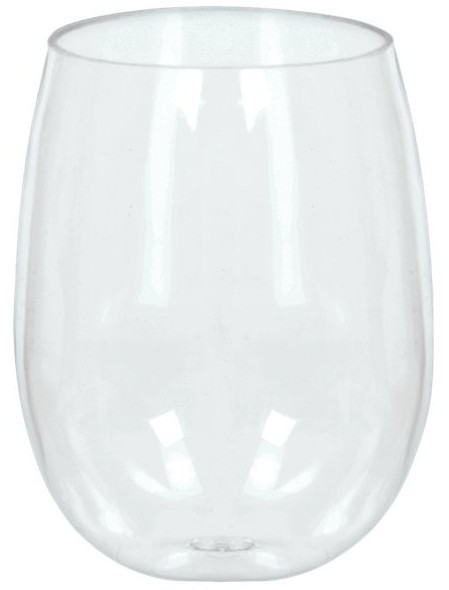 8 plastic wine glasses without stem 355ml