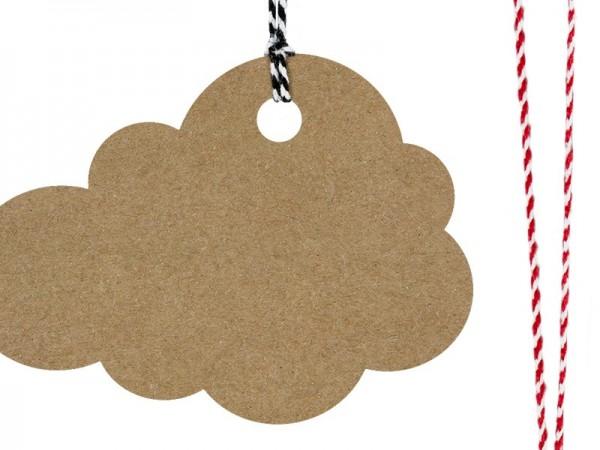 6 étiquettes cadeaux nuages nature