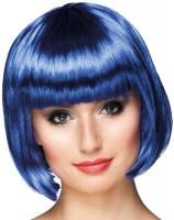 Perruque Bob Shiny Party Bleu