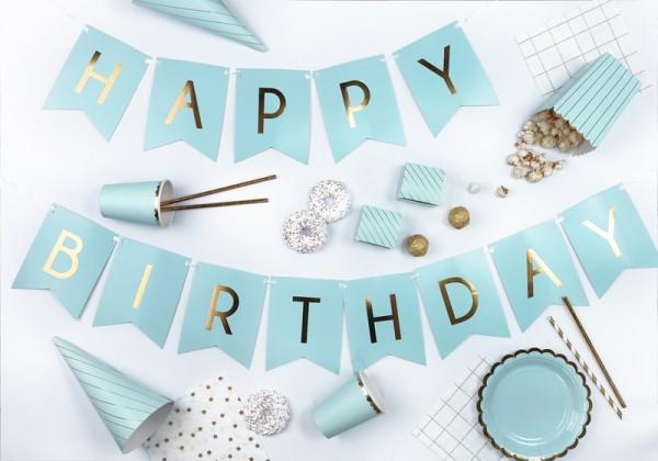 6 Cheerful Birthday Snack Boxen minttürkis 4