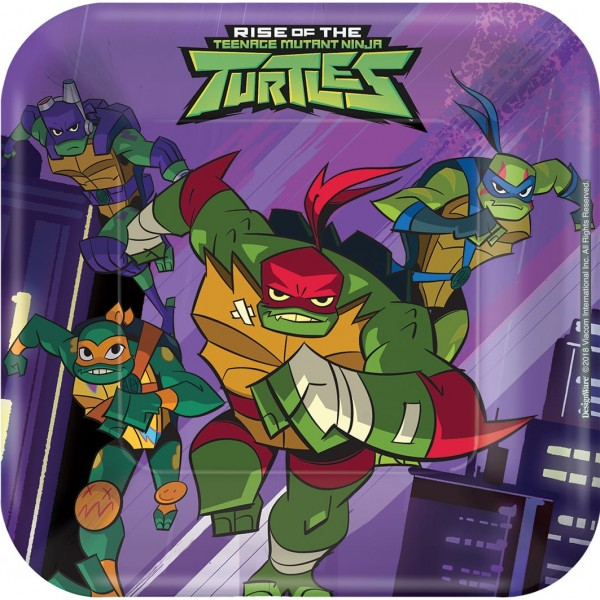 8 Ninja Turtles Adventures Teller 18cm