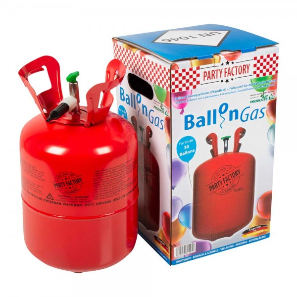 Helium Einwegflasche für bis zu 50 Ballons 1