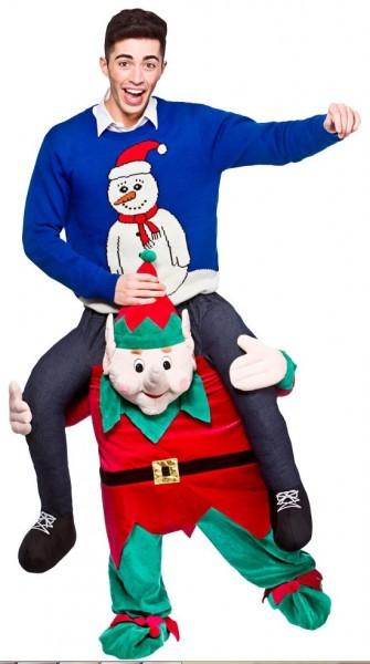 Weihnachtshelfer Huckepack Kostüm
