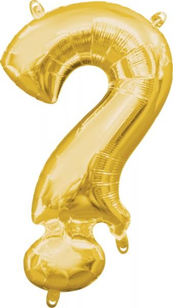 Mini Folienballon Symbol ? gold 35cm