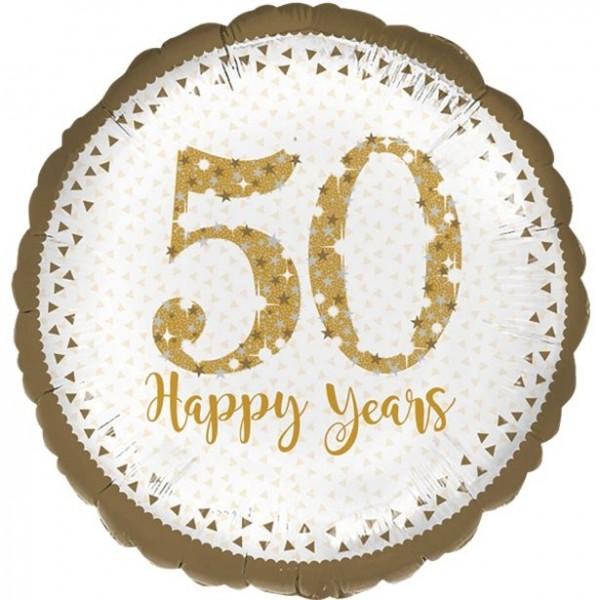 Sparkling 50 Years foil balloon 45cm