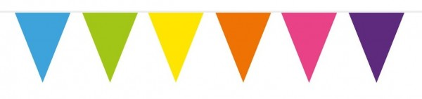 Multi-coloured Pennant Chain 10m