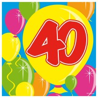 20 Spectacular 40th Birthday Servietten 25cm