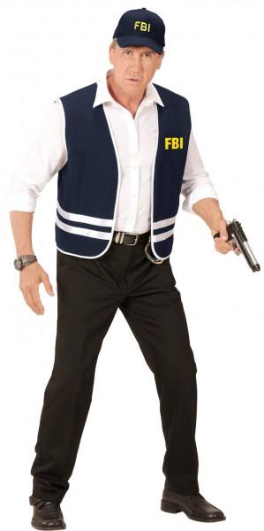 Unisex FBI vest & cap dark blue