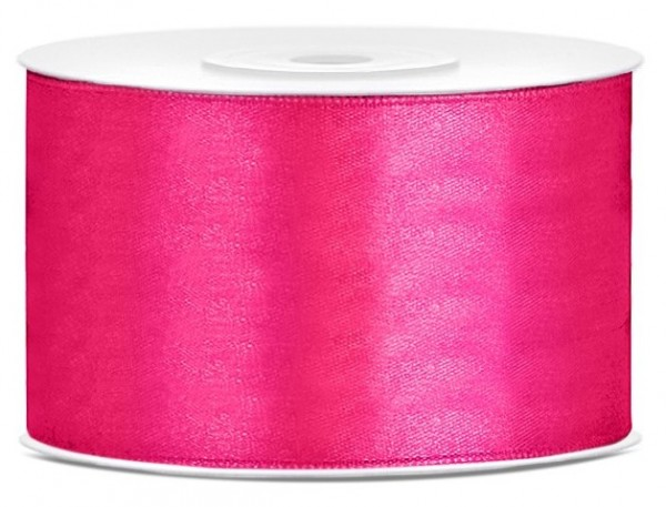 25m satin gift ribbon in dark pink