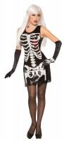 Skelettrumpf Minikleid Für Damen