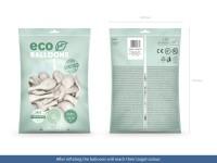 100 Eco metallic Ballons perlweiß 26cm