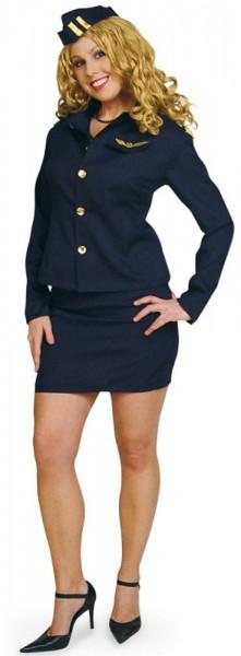 Stewardess Skyla Damenkostüm