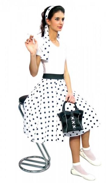 Weißer 50s Style Damenrock Elisa