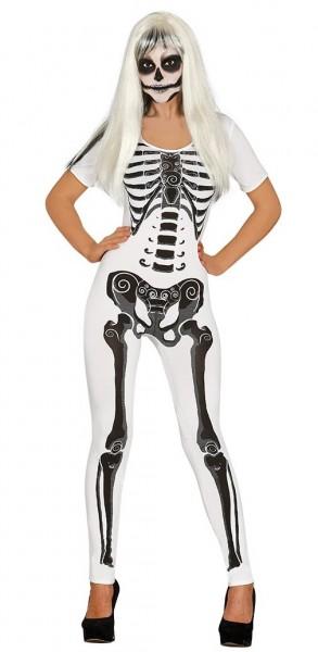 Mono elegante de mujer esqueleto