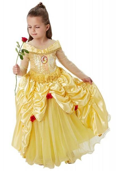 Belle Kinder-Premiumkleid Goldgelb