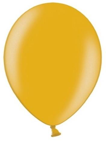 100 party star metallic balloons gold 27cm
