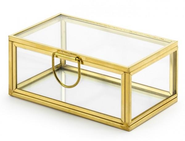 Goldene Ringbox Schatzkiste