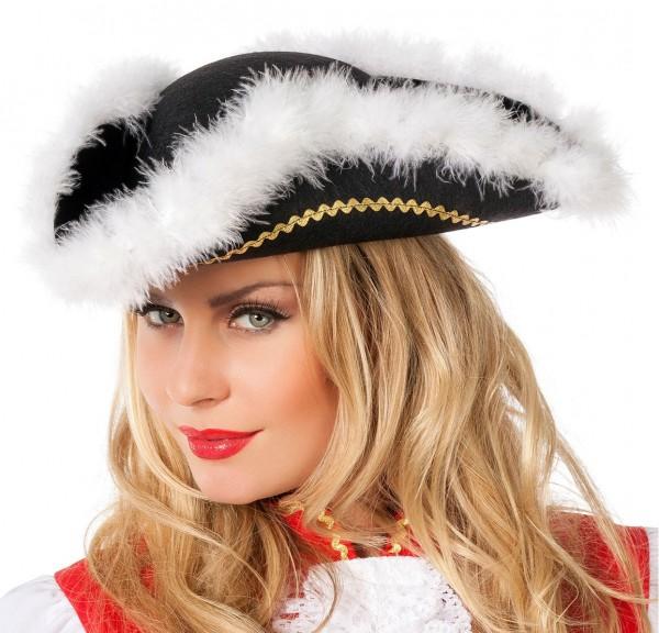 Funkenmariechen Hut Schwarz Weiß