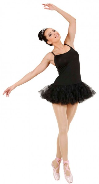 Klassisches Ballerina Damenkostüm Schwarz