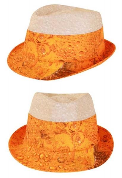 Grappige fedora hoed van de bierpartij