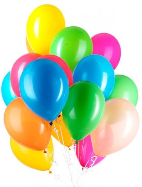30 palloncini colorati con nastro 23cm