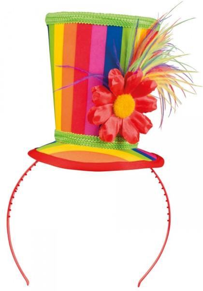 Haarreif mit Regenbogenhütchen