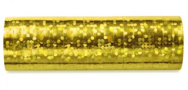 Goldene Holotastic Luftschlange 3,8m