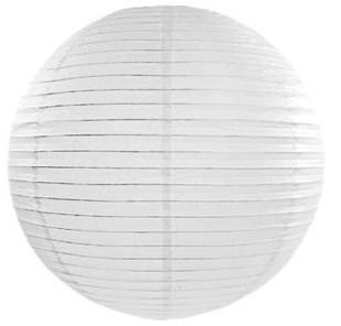 Papier-Lampion weiß 20cm 1