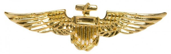 Fliegerabzeichen in Gold