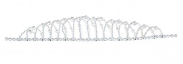 Weiße Prinzessin Perlenkrone