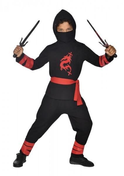 Ninja Kinderkostüm Schwarz 3