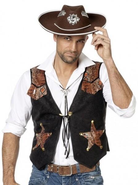 Chaleco vaquero del salvaje oeste