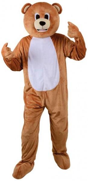 Déguisement mascotte ours en peluche