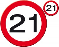 Verkehrsschild 21 Tischset 8-teilig