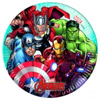 8 Avengers Heroes Pappteller 20cm