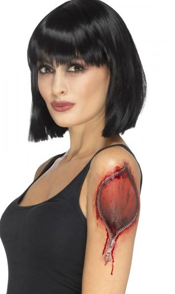 Tattoo Aufgerissene Haut Reißverschluss
