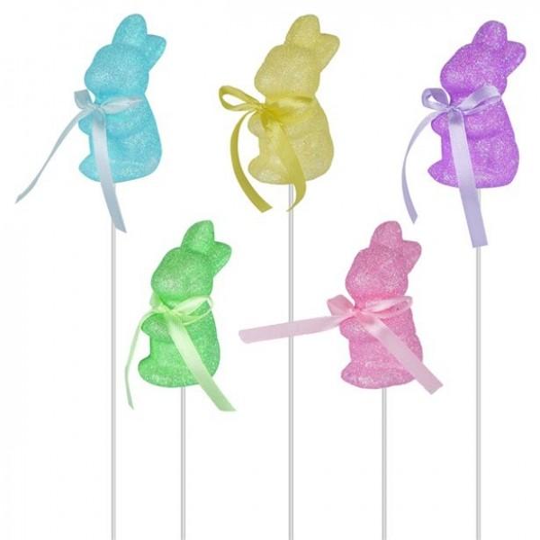 5 kolorowych szaszłyków wielkanocnych 24cm