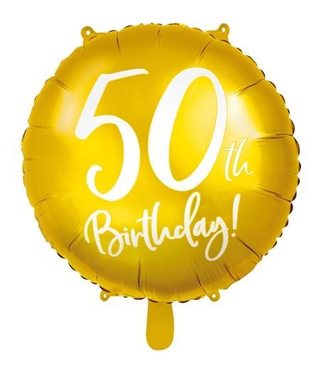 Glanzende 50e verjaardag folieballon 45cm
