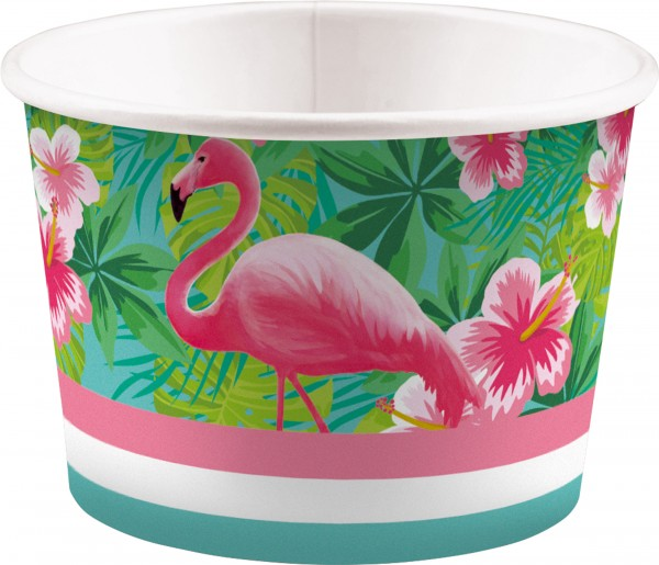 8 Eisbecher Flamingo Paradise 270ml