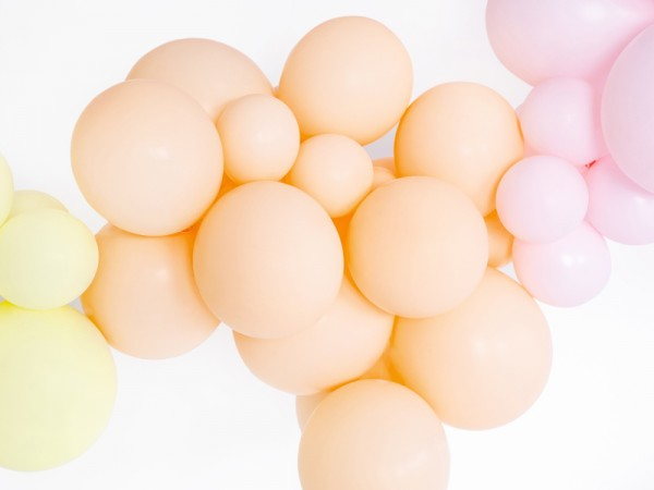 10 Partystar Luftballons apricot 30cm