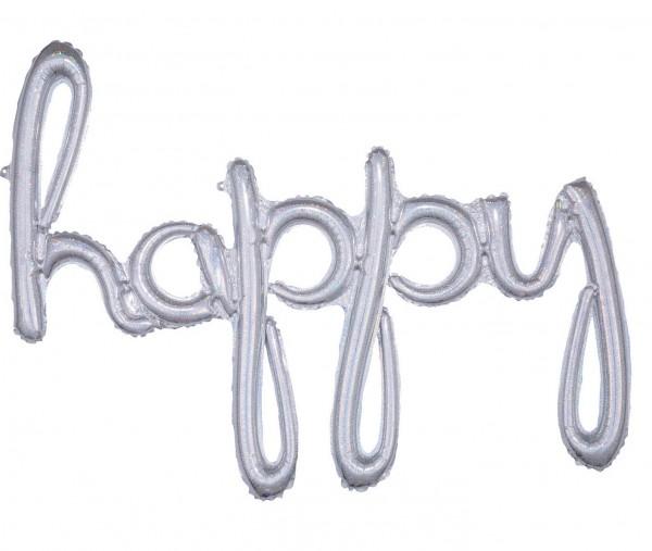 Holografischer Happy Ballon 99 x 68cm