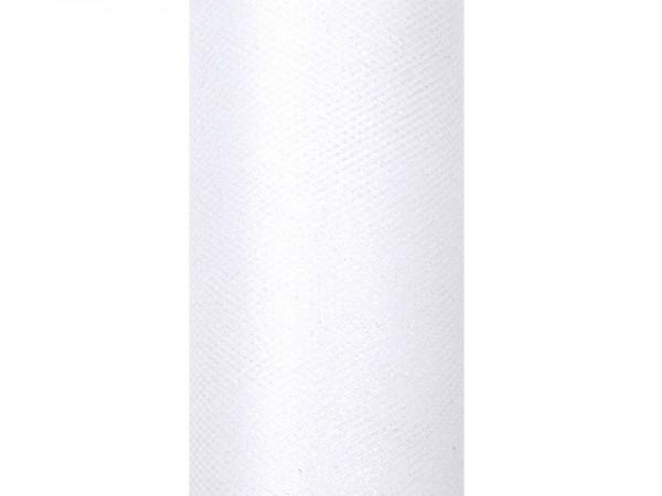 Tul brillo Estelle blanco 9m x 15cm