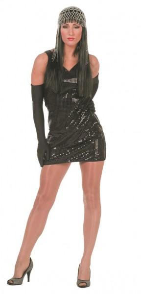 Glamour Party Pailletten Kleid Schwarz