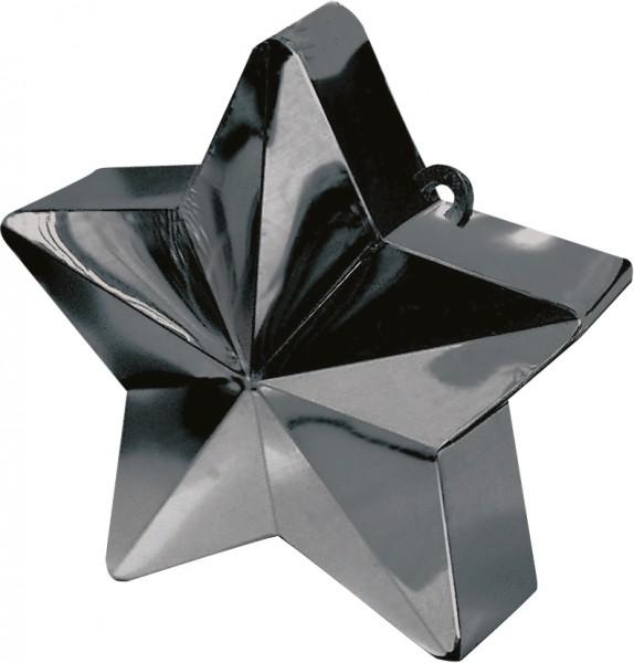 Obciążnik balonu z gwiazdą w kolorze czarnym