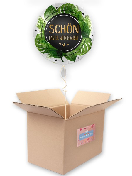 Folienballon Welcome back 45cm