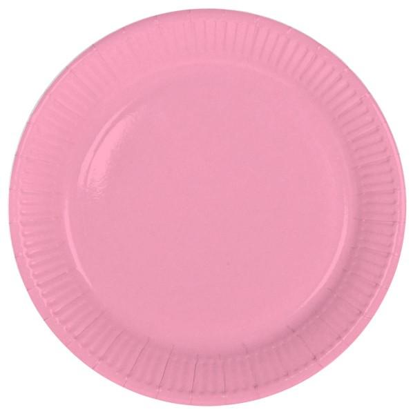 8 assiettes en papier Cleo rose 23cm